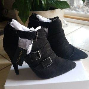 Buckle Black Booties